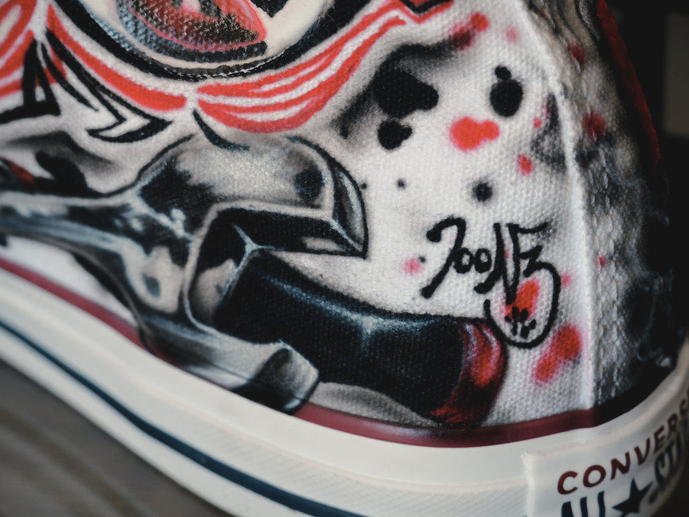 Customized Converse Chuck Taylors | Photo by Jeremy Constantineau