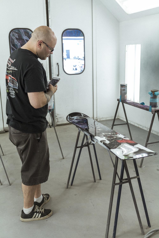 Sketchs Ink batman snowboard