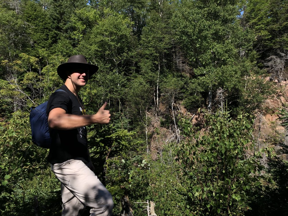 Cole on the Kluskap Trail