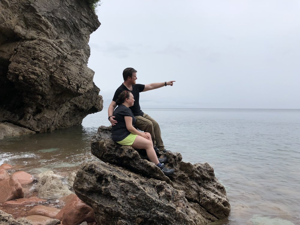 Kluskap Caves - Pointing Toward the Islands