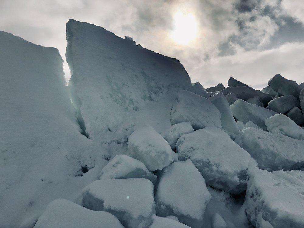 The Ice Wall - Irish Vale, Cape Breton, Nova Scotia