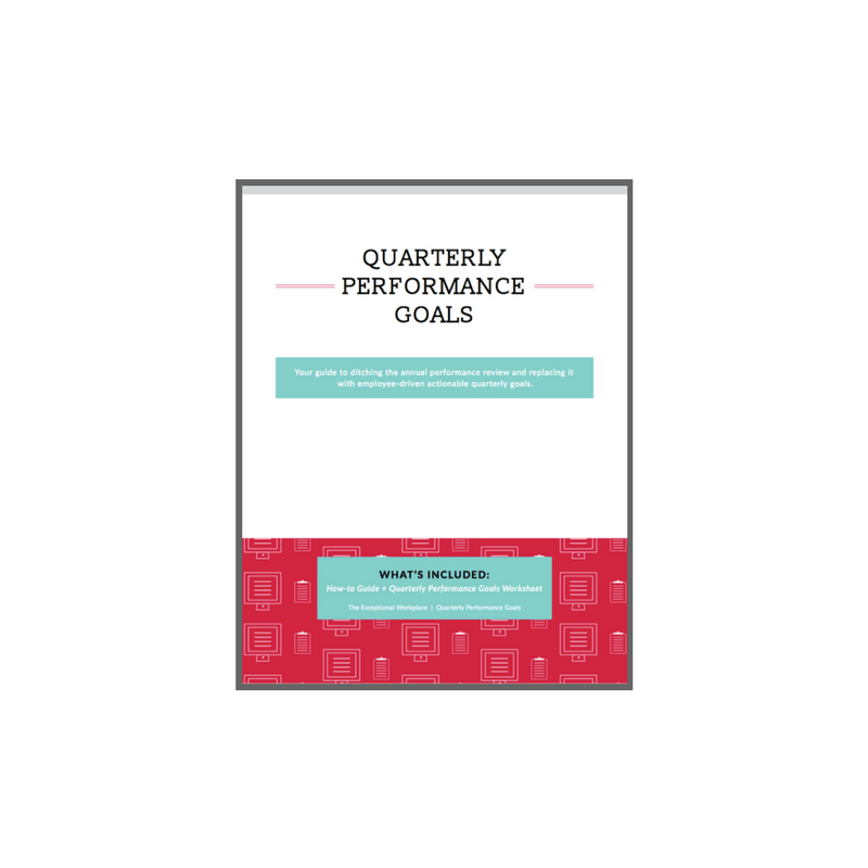 Quarterly Performance Goals - New template and how-to guide!