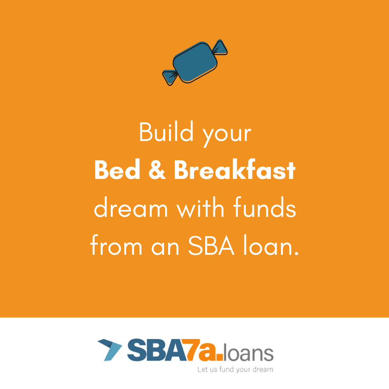 SBA 7(a) loans for bed and breakfasts