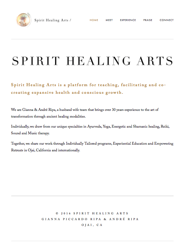 Spirit Healing Arts Home Page