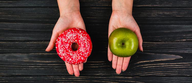 Maçã ou donut?