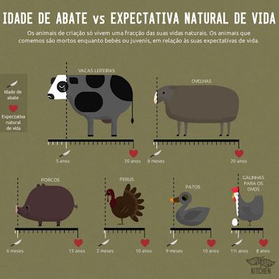 Idade de abate vs expectativa natural de vida