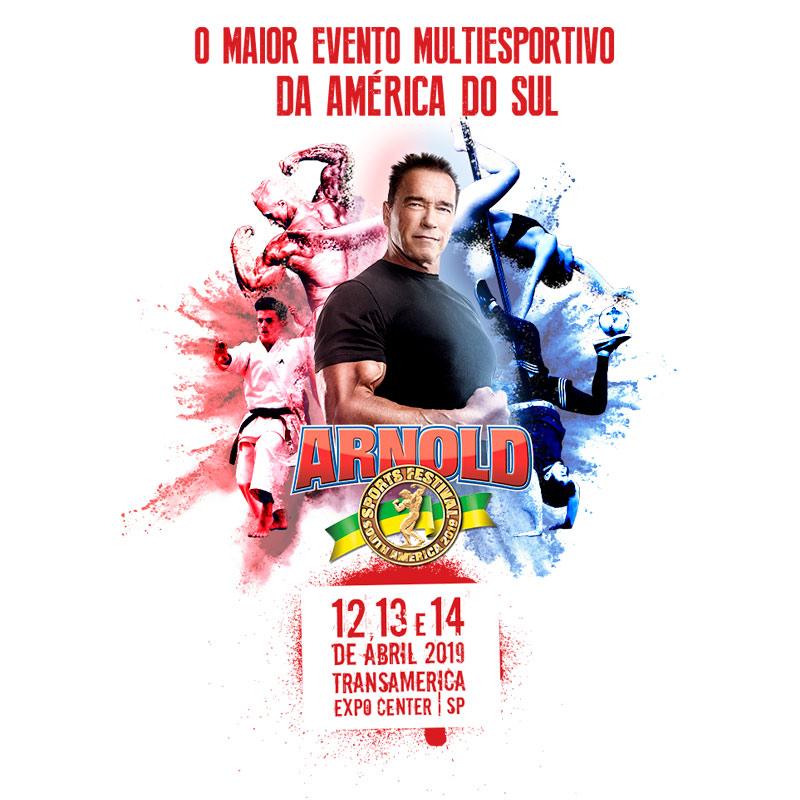 Arnold Classic - Estamos com a presença confirmada no maior evento Multiesportivo da América do Sul. A Arnold Classic acontece nos dias 12/13 e 14 de abril na Transamerica Expo Center em São Paulo - SP.