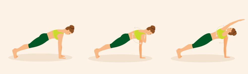 Bate ombro e rotação de tronco