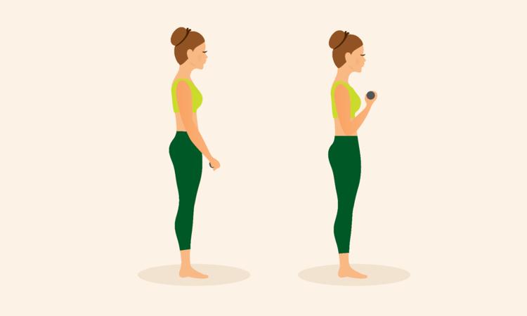 Exercício para bíceps  - Exercícios em casa