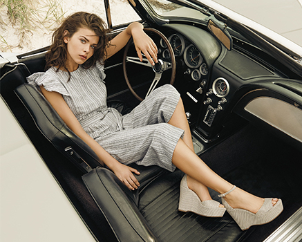 1964 Chevrolet Corvette  photo: for  @vincecamuto  spring 2018 campaign feat.  @georgiafowler