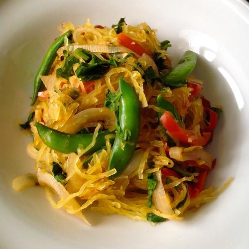 Thai Spicy Basil Spaghetti Squash
