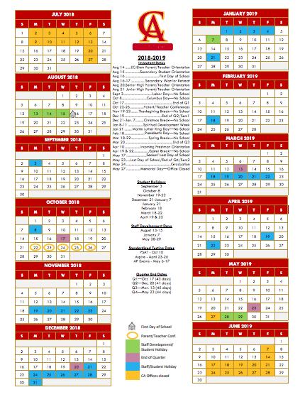 Christian Calendar 2019 Christ Academy Wichita Falls, TX | Private Parochial School