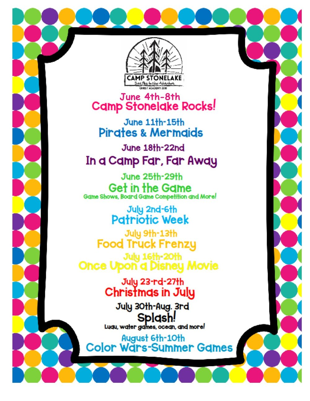 Camp Stonelake Wichita Falls TX 2018 Camp Themes.jpg