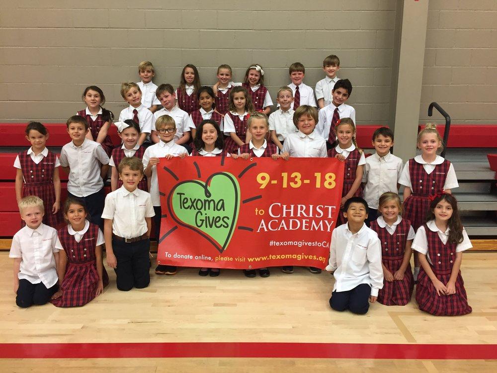 Christ Academy Texoma Gives Grade 2 and 3