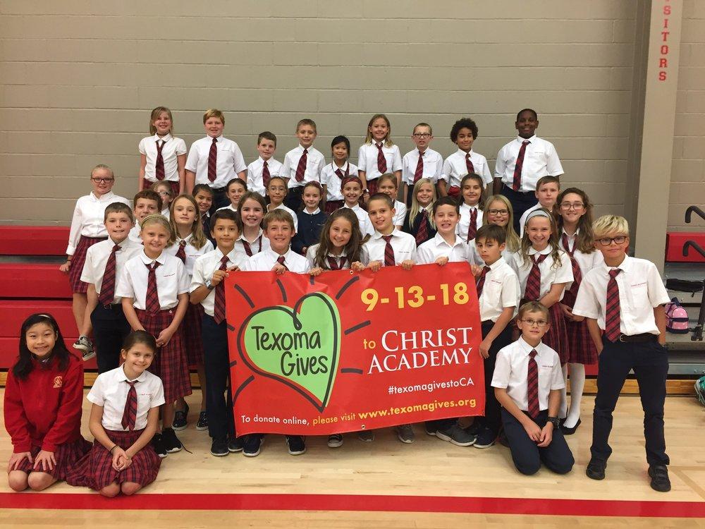 Christ Academy Texoma Gives Grade 4 and 5