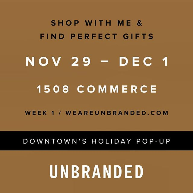 Unbranded opens tomorrow! And what better way to celebrate than giving one lucky winner $100 to use to shop there?! Comment on this post tagging your shopping buddy for your chance to win.