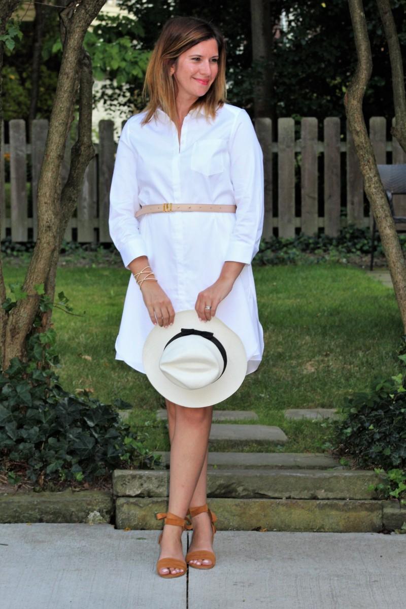 Outfit details: Dress // Cuff ( similar ) // Sandals (on sale now!) // Clutch // Hat ( similar ) // Belt