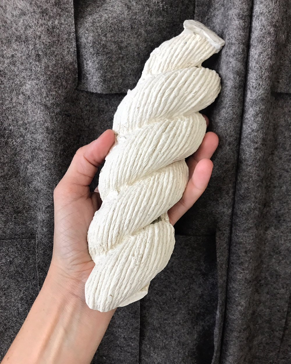 mold of shipping rope - plaster cast test