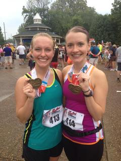 First half marathon with my little sister.