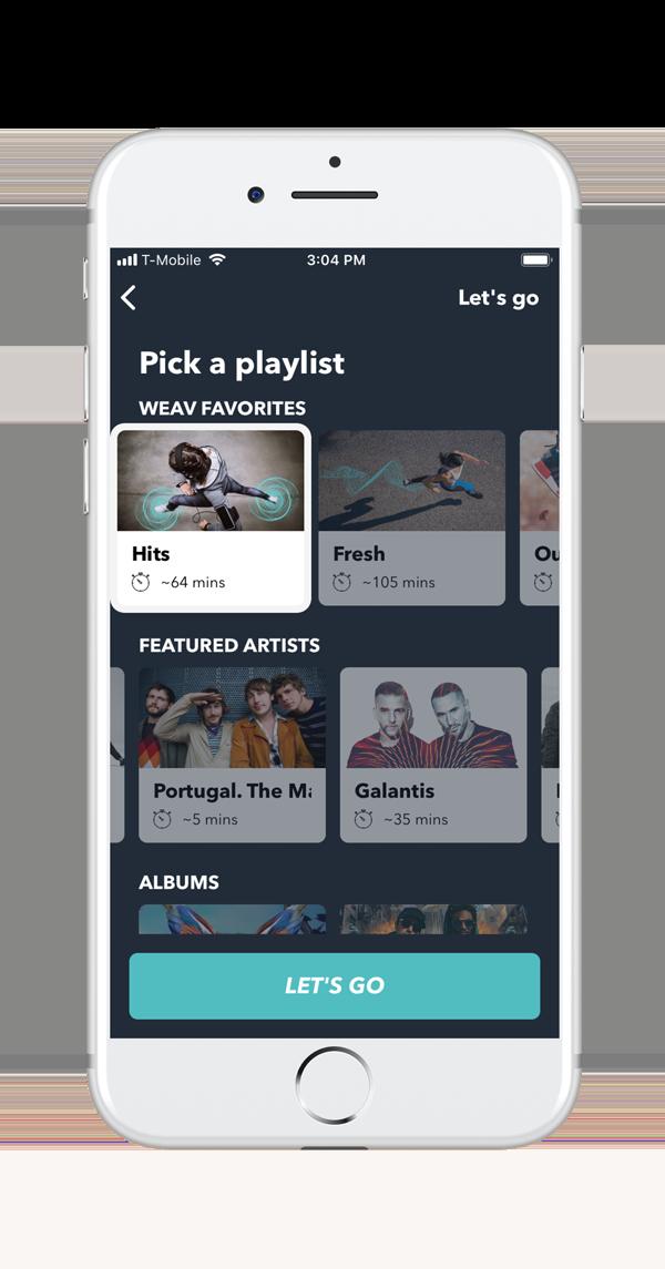 Pick your adaptive music playlist