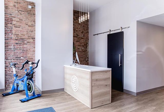 We have been open 3 months and are still loving the amazing work that @barrett_made did! (we also love how the #jibetribe never lets the front desk look this empty!) ✨✨✨ #Repost @barrett_made ・・・ Kick your Monday into high gear with a visit to @jibecycling. We love how this modern space turned out and we're thrilled to have built this talented group of instructors the place to do their thing. Check it out! 🚴‍♂️ #cyclingstudio #jibe #jibetribe #freestreet #homesspacesdetails #wedoitall #designbuild #designandbuildtogether #customdetails #frontcounter #portlandm
