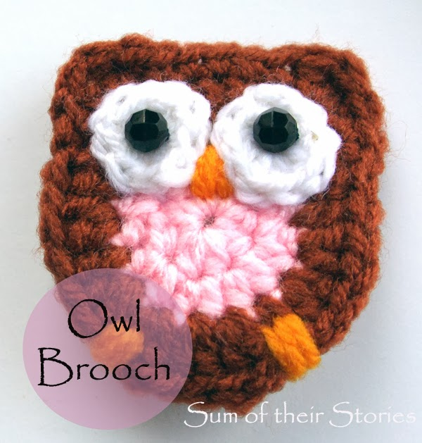 Crocheted Owl Brooch Sum Of Their Stories