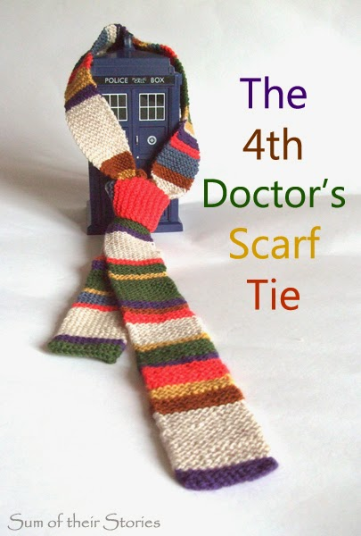 Doctor Who Knitted Tie Sum Of Their Stories