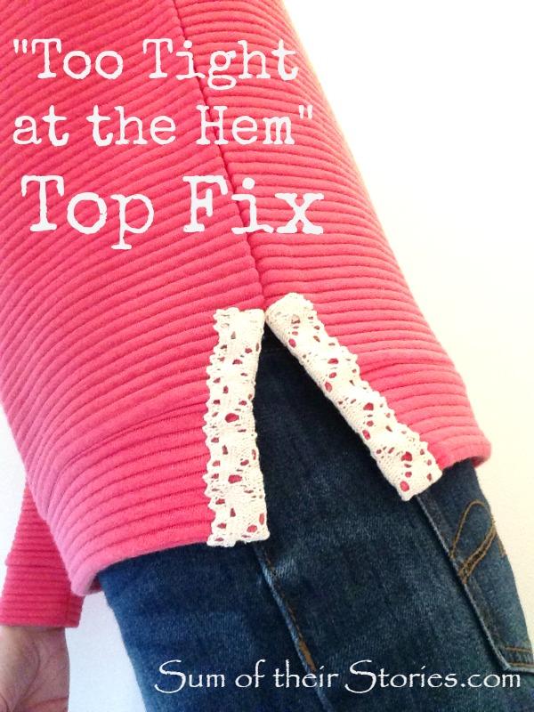 Too tight at the hem top fix