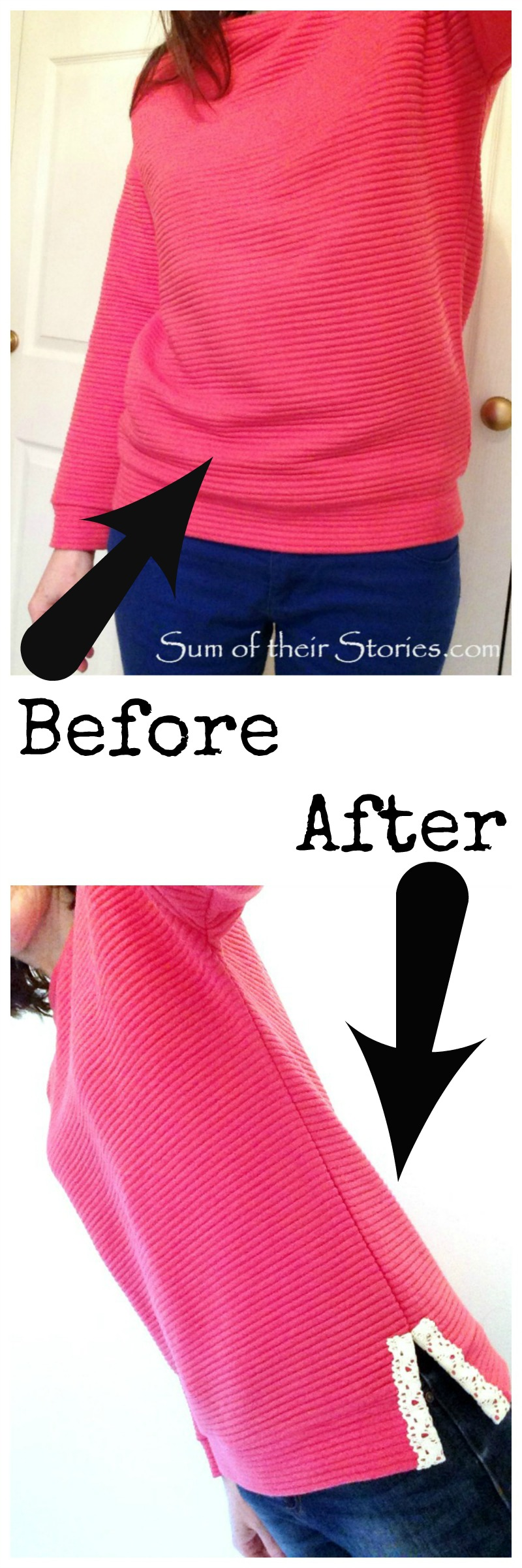 easy fix for a top that is too tight at the hem