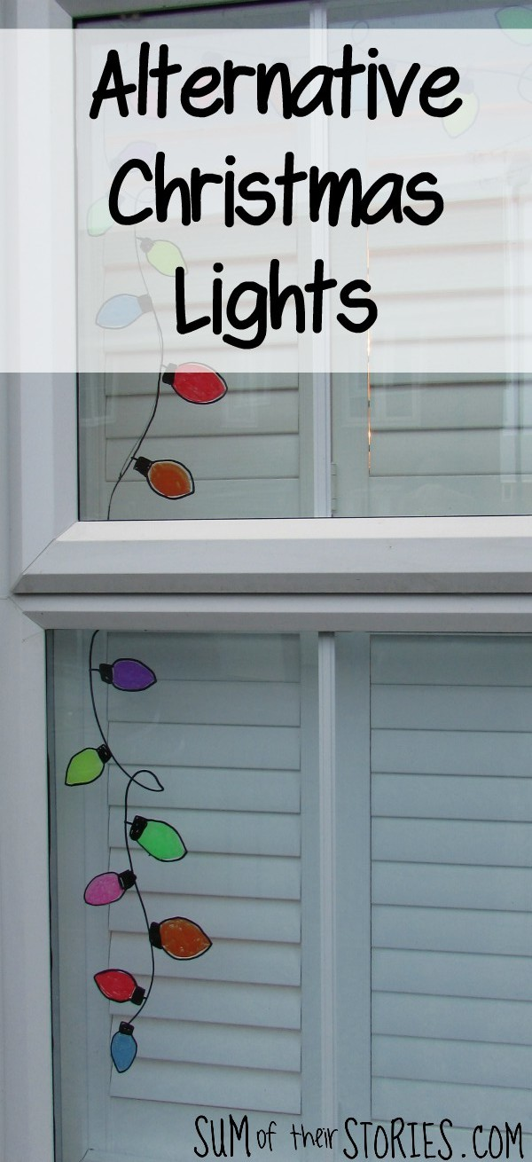Alternative to Christmas lights window decoration