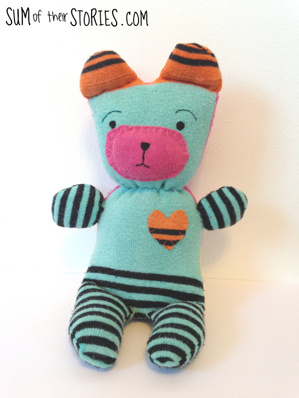 Cute sock teddy tutorial