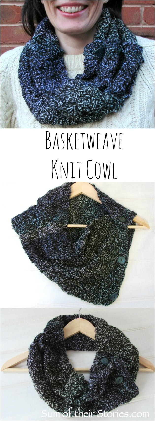 Basketweave Knit Cowl — Sum of their Stories