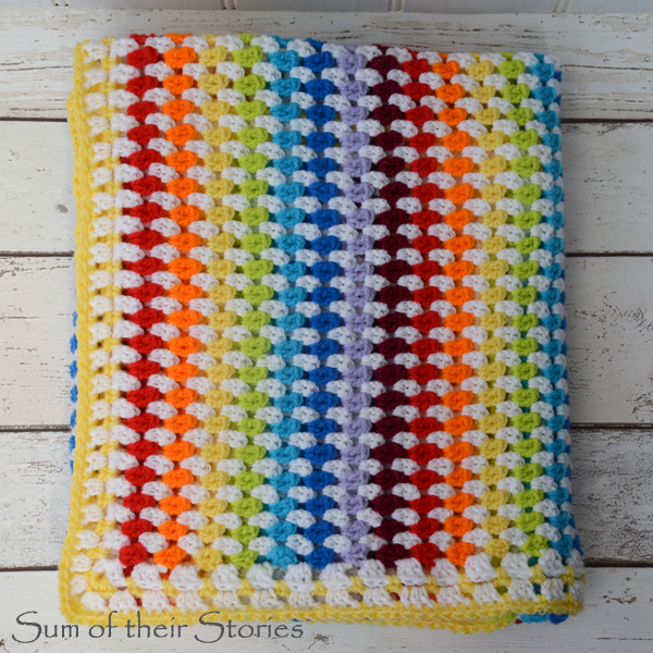 Diamond Stitch Crocheted Baby Blanket Sum Of Their Stories