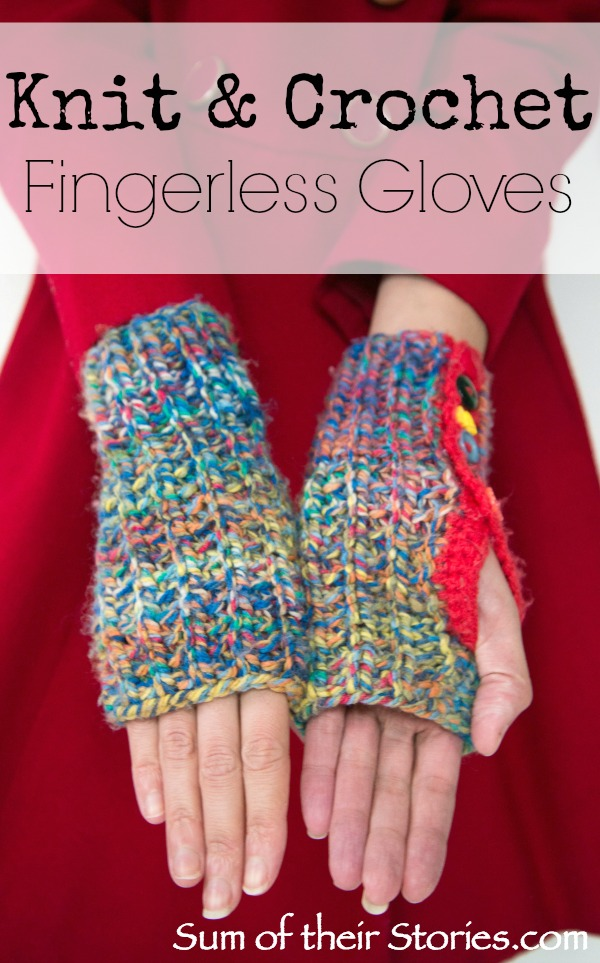 Crochet And Knit Fingerless Gloves Sum Of Their Stories