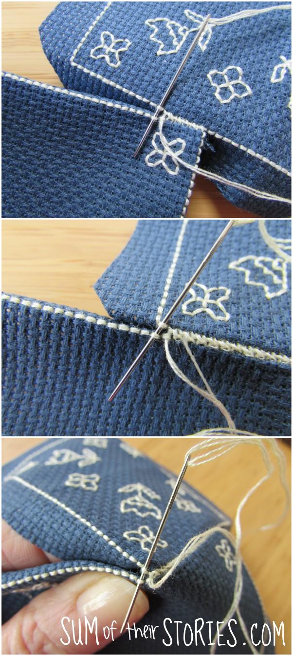Stitching the biscornu