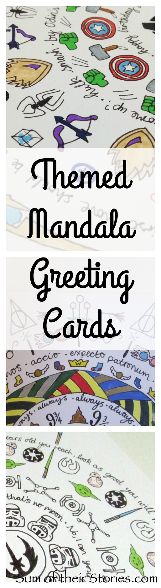 themed mandala greeting cards sum of their stories