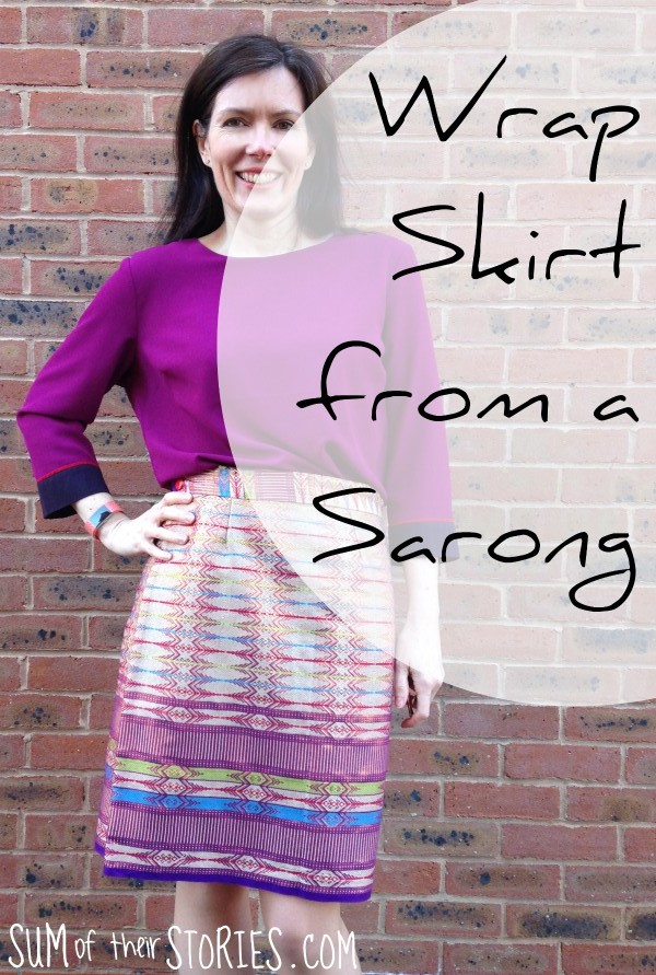 make a wrap skirt from a sarong
