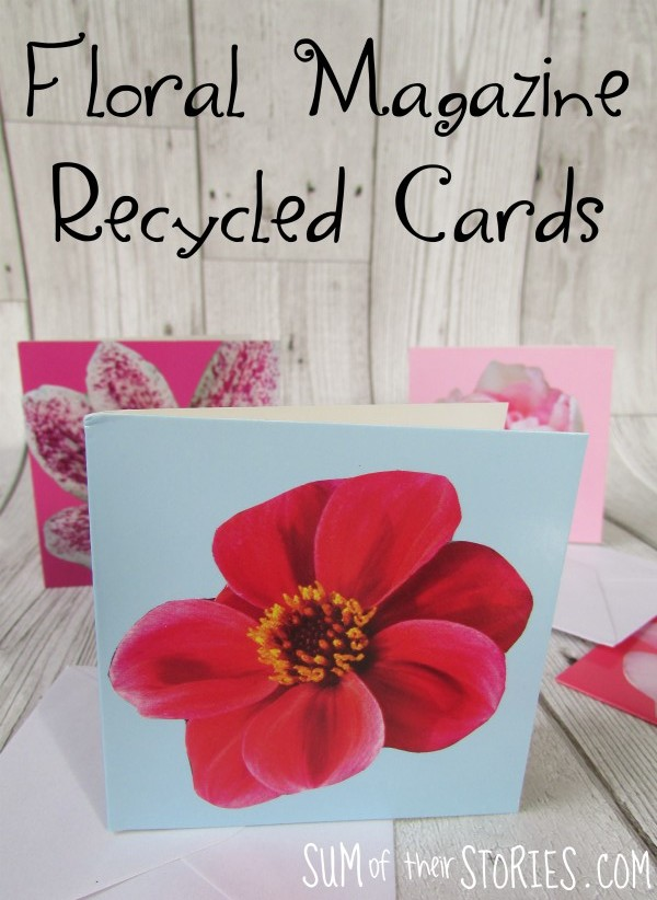 Recycled magazine cards