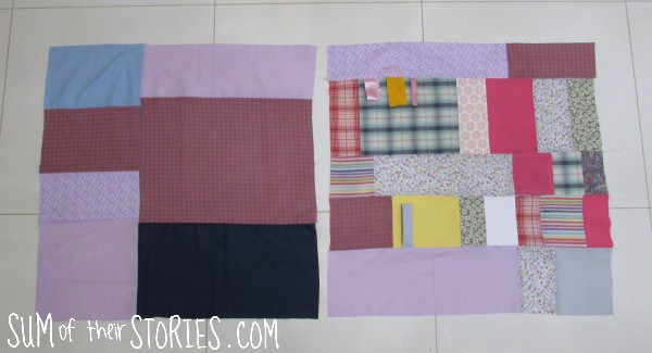 How to make a patchwork play mat