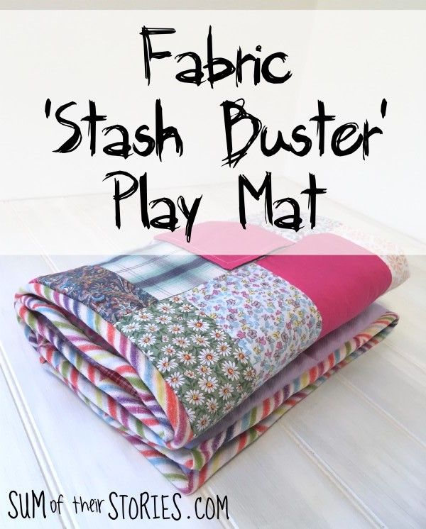 Fabric stash buster baby play mat