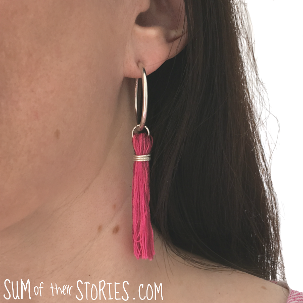 Make your own tassel earrings