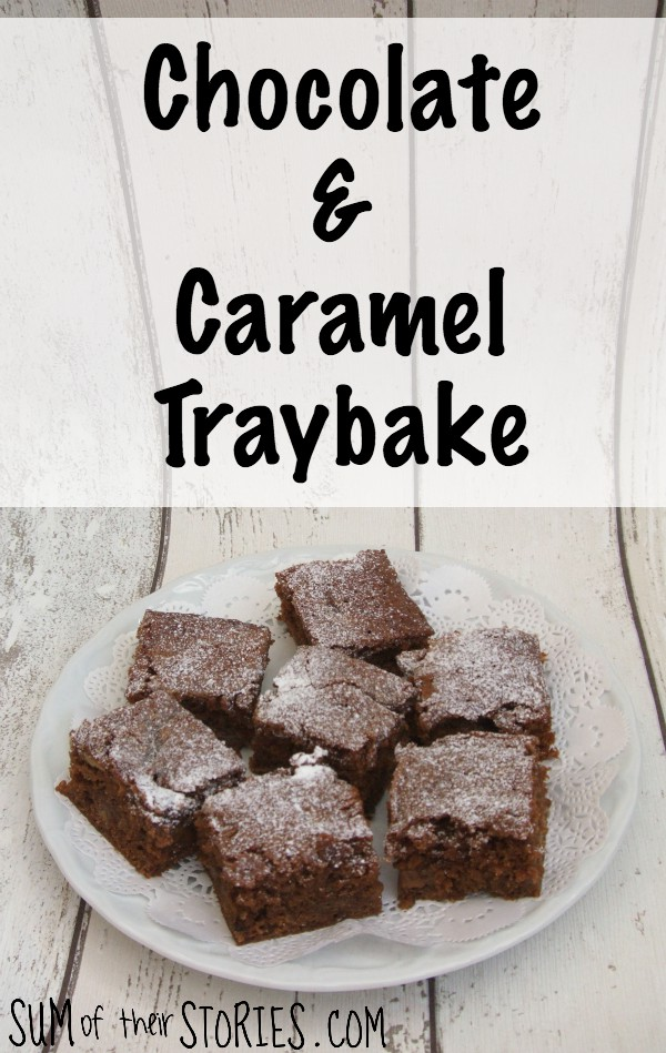 chocolate and caramel traybake