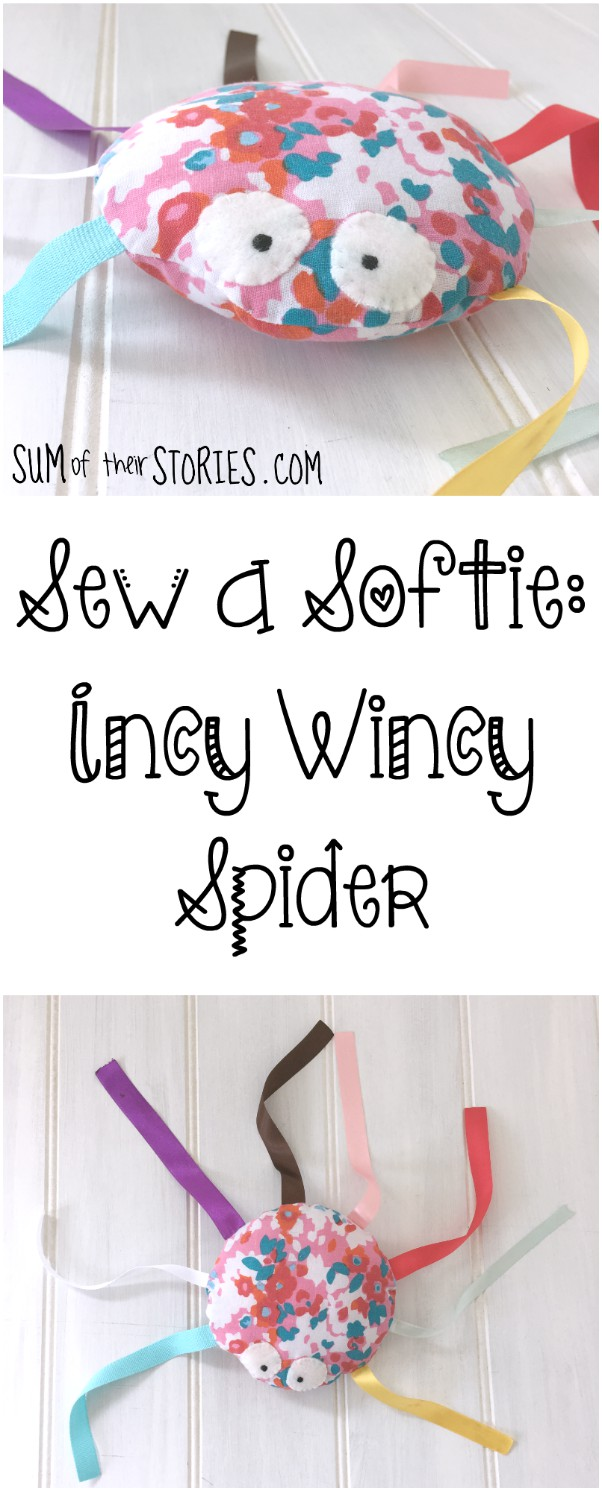 Sew a softie spider tutorial