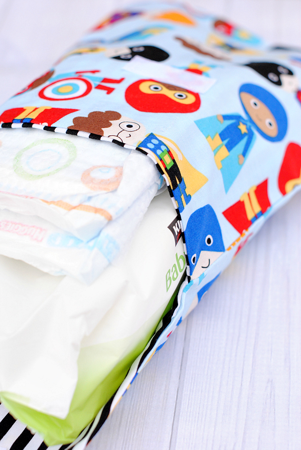 Diaper pouch pattern