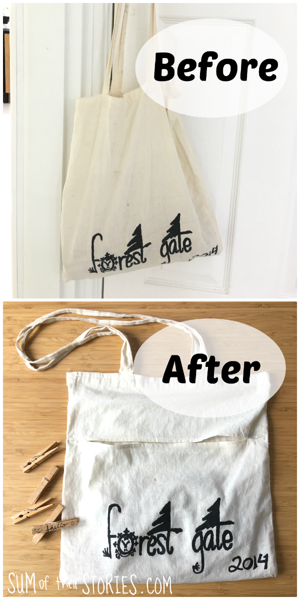 Make a peg bag from an old shopper