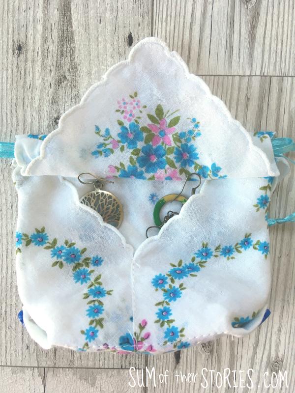 handkerchief jewellery pouch