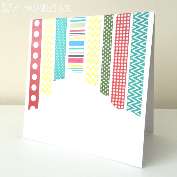simple washi tape card