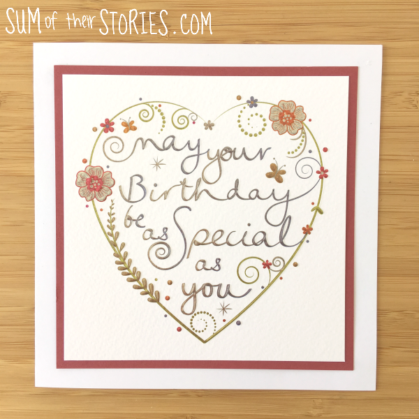 simple upcycled birthday card idea