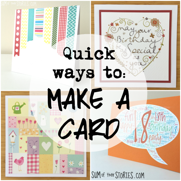 quick ways to make a card