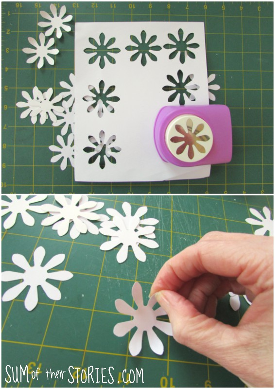 how to make paper pom pom dasies